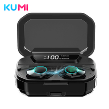 KUMI T3S 6D Stereo Bass All In One TWS Smart Touch BT 5.0 Headset LED Display Waterproof Earphone for Android / iOS