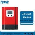 PowMr Esmart3 60A 40A MPPT Solar Controller 48V/36V/24V/12V Auto Zurück-licht LCD Max 150VDC Eingang Energiesparende RS485 Port