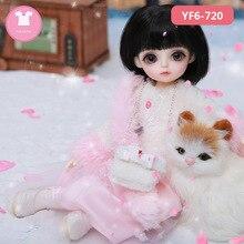 Ropa BJD Kimi Lemon Dm Littlefee N9 cuerpo y Niña 1/6 BJD SD vestido hermoso traje de muñeca accesorios luodoll