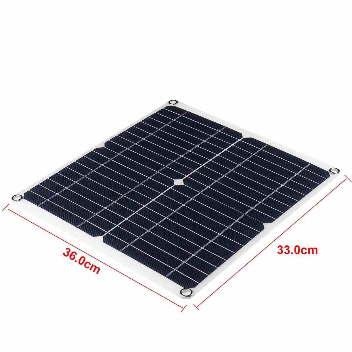 50 Вт/60/80/100 Вт 20В Панели солнечные Батарея Зарядное устройство переносная солнечная панель доска Крокодил Зажимы для автомобиля Зарядное устройство для телефона автомобиля RV лодка яхта
