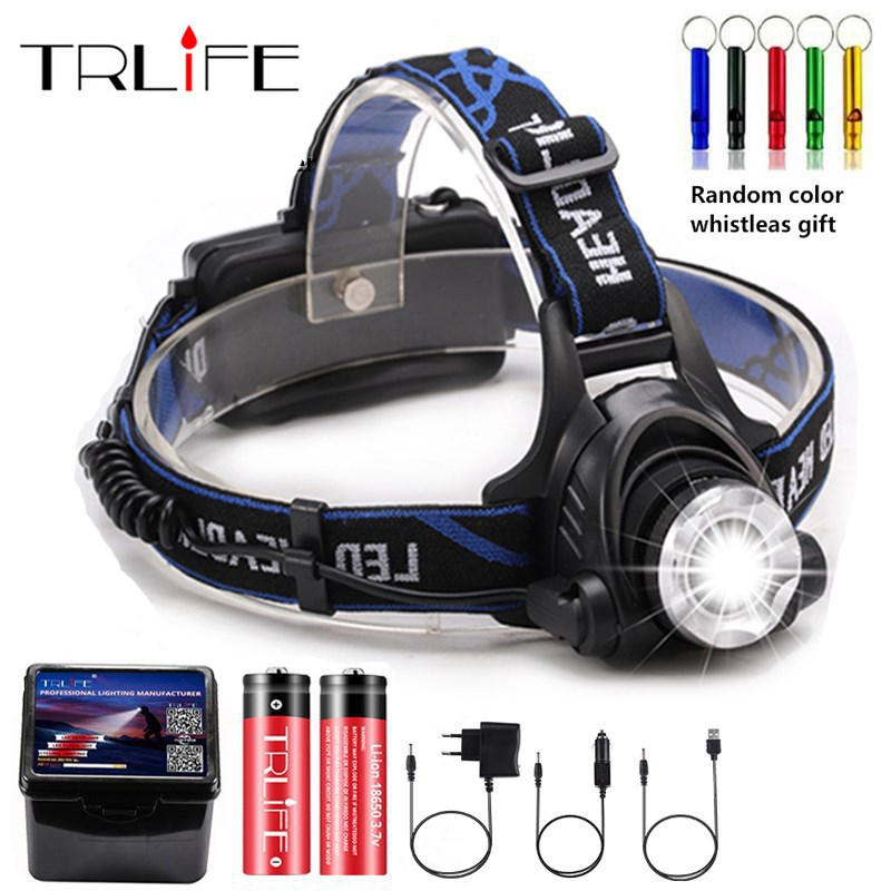LED Headlamp Camping Headlight T6/L2/V6 3 Modes Zoomable Lamp Waterproof Head Torch Flashlight Head Lamp Use 18650 For Fishing