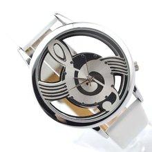 Классический черный циферблат кожа ремешок дешевый кварц наручные часы мужчины женщины люкс бренд браслет пары валентинка рождество подарок