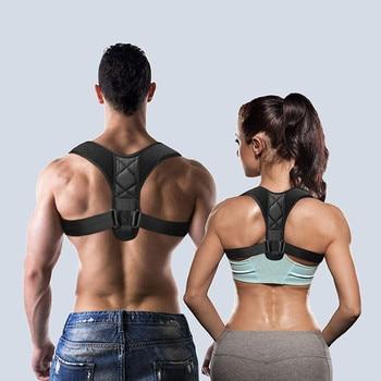 Médico ajustável clavícula postura corrector men woemen superior volta cinta ombro lombar cinto de apoio correção postura espartilho 1