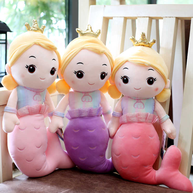 Новая Милая Корона Русалочка плюшевая игрушка кукла детская игрушка девочка подарок на день рождения Домашнее украшение