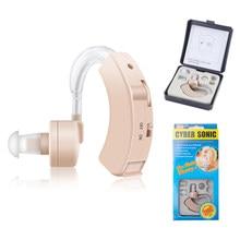 Super mini aparelho auditivo amplificador de som da orelha tom ajustável próteses auditivas portátil amplificador auditivo para os idosos surdos