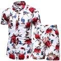 Männer 2 Stück Set Sommer Shorts Set Mann Gedruckt Hemd und Shorts Set Beach Wear Board Shorts Hawaiian Shirt Set mode Kleidung