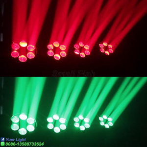 Image 5 - LED Six Bees Eyes 6X10W RGBW 4IN1 Moving Head Light DMX 512 Control Stage Effect Lighting For DJ Disco Party Dance Floor Clubs