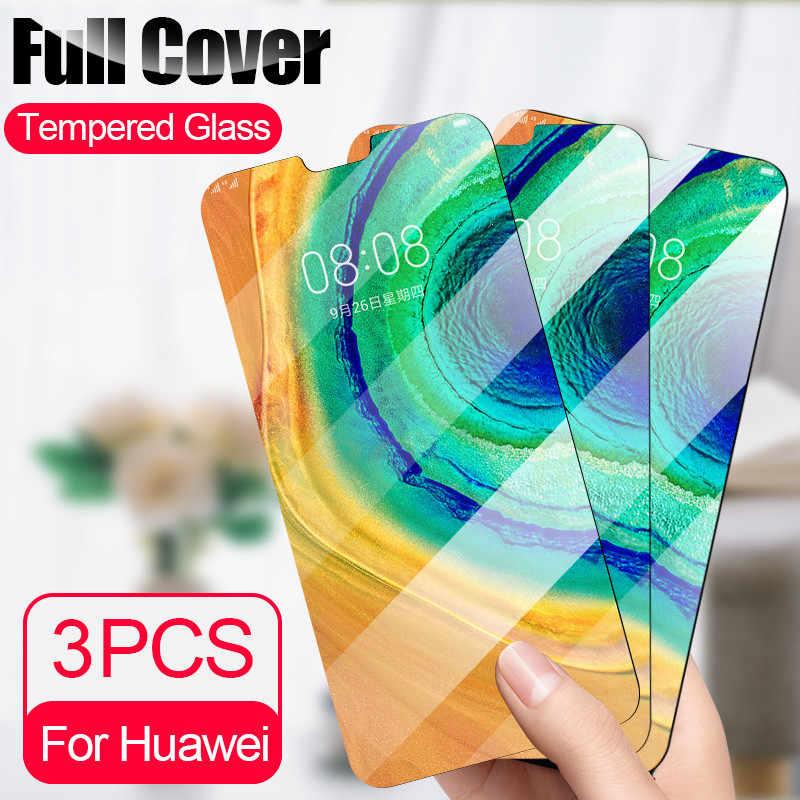 3 Pcs/lot Anti Gores untuk Huawei P20 P30 Lite Mate 30 20 10 Lite Pelindung Layar Penuh untuk Huawei P smart 2019 Nova 3i Kaca