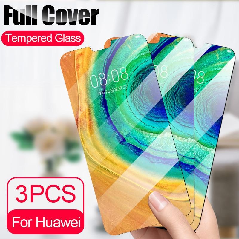3Pcs/Lot Tempered Glass For Huawei P20 P30 Lite Mate 30 20 10 Lite Full Screen Protector For Huawei P Smart 2019 Nova 3i Glass
