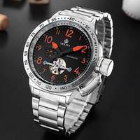 Top Luxury Brand ORKINA Watch Big Dial Men Watches Automatic Mechanical Tourbillon Watches Stainless Steel Watch Man Watch