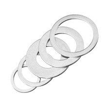 5 pces 16mm-30mm circular viu anéis de redução da lâmina de aço de alta velocidade tct carboneto de corte disco anel de conversão ferramentas para trabalhar madeira