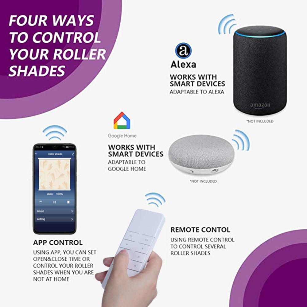 Tuya inteligentny dom rolety automatyczne Wifi odcienie silnika dla biura kompatybilny z Google Alexa