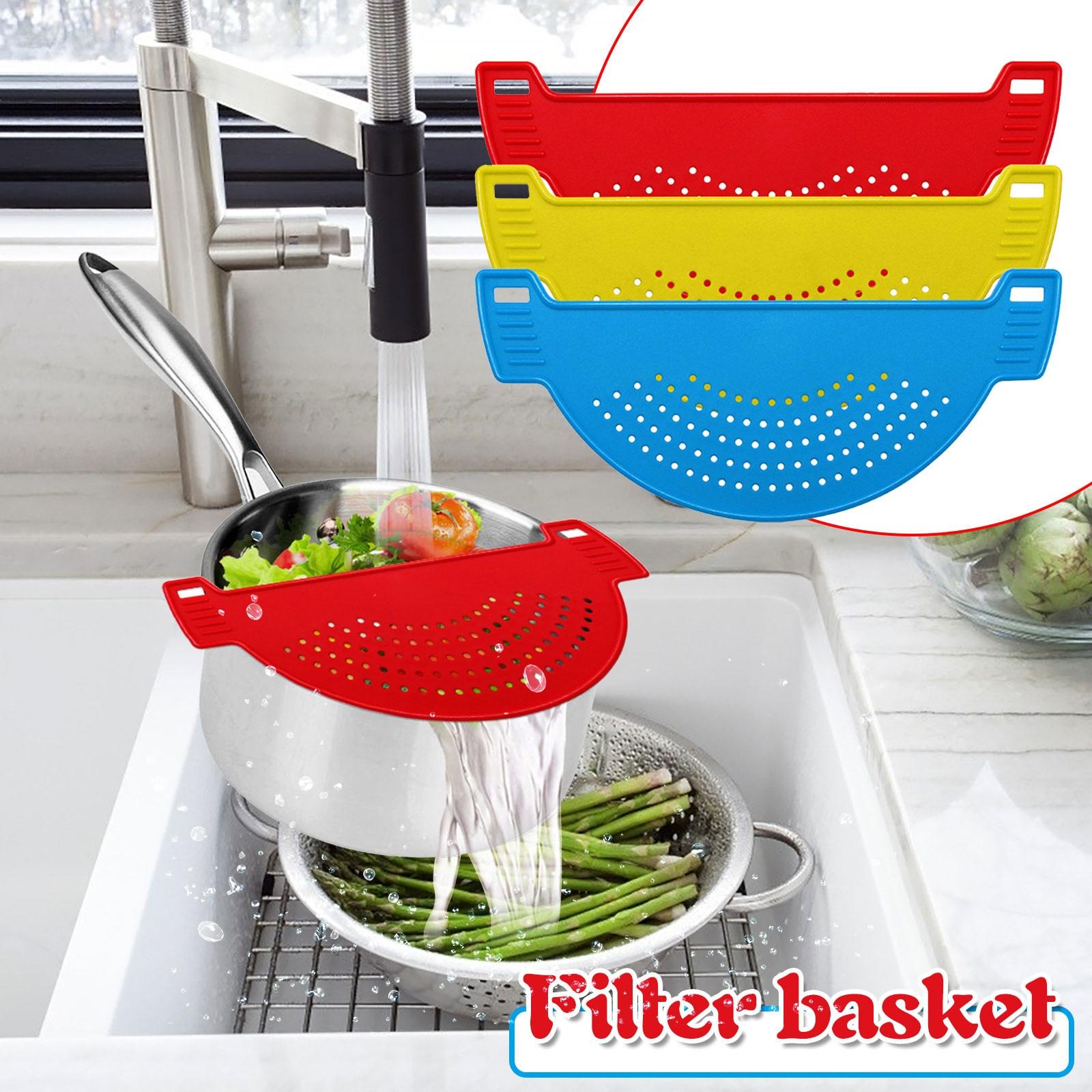 T # Drain Rack silikonowy ociekacz specjalny anty-rozlewanie żywności Noodle ociekacz do Pot Liner ociekacz do mycia warzyw owoce