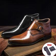 Chelsea Boots Platform Flat-Shoes Slip-On Ankle Designer Winter Casual Genuine-Leather