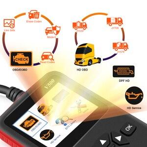Image 2 - Araba kamyon OBD2 tarayıcı ağır kamyon teşhis kod okuyucu otomatik tarayıcı kamyon ABS DPF yağ işık sıfırlama otomatik teşhis aracı