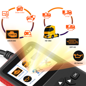 Image 2 - Auto Truck OBD2 Scanner Heavy Duty Truck Diagnose Code Reader Auto Scanner Truck Abs Dpf Olie Licht Reset Auto Diagnose tool