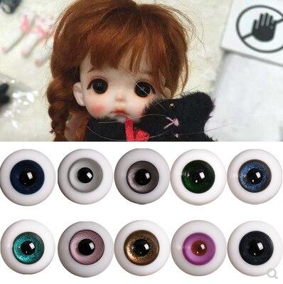 Ob11 Eyeball 6mm 8mm Soft Clay Clay Doll BJD Eyeball SD Baby Beauty Pig Glass With Handle Eyes