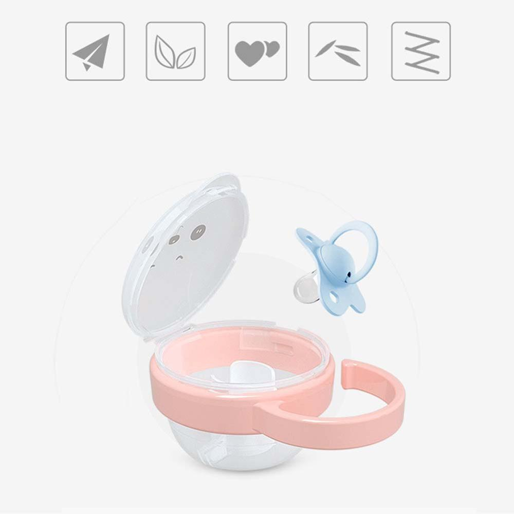 1PC Random Portable Pacifier Box Kids Pacifier Nipple Cradle Case Holder Travel Storage Box Baby Infant Pacifiers Boxes