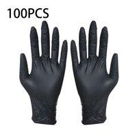100 stücke Einweg Schwarz Handschuhe Haushalt Reinigung Waschen Handschuhe Nitril Labor Nail art Tattoo Anti Statische Handschuhe-in Haushalts-Handschuhe aus Heim und Garten bei