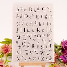 Letters Of Alphabet Clear Stamp 3 Different Type Handwritten Upper Lower Scrapbooking Silicon Transparent Sealing Craft