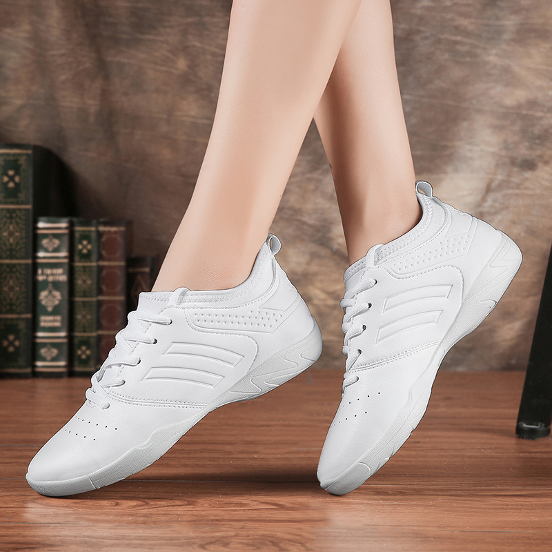 Competitive Aerobics Shoes Men's White Fitness Shoes Cheerleading Shoes Women's Training Shoes Soft Bottom Jazz Modern Shoes