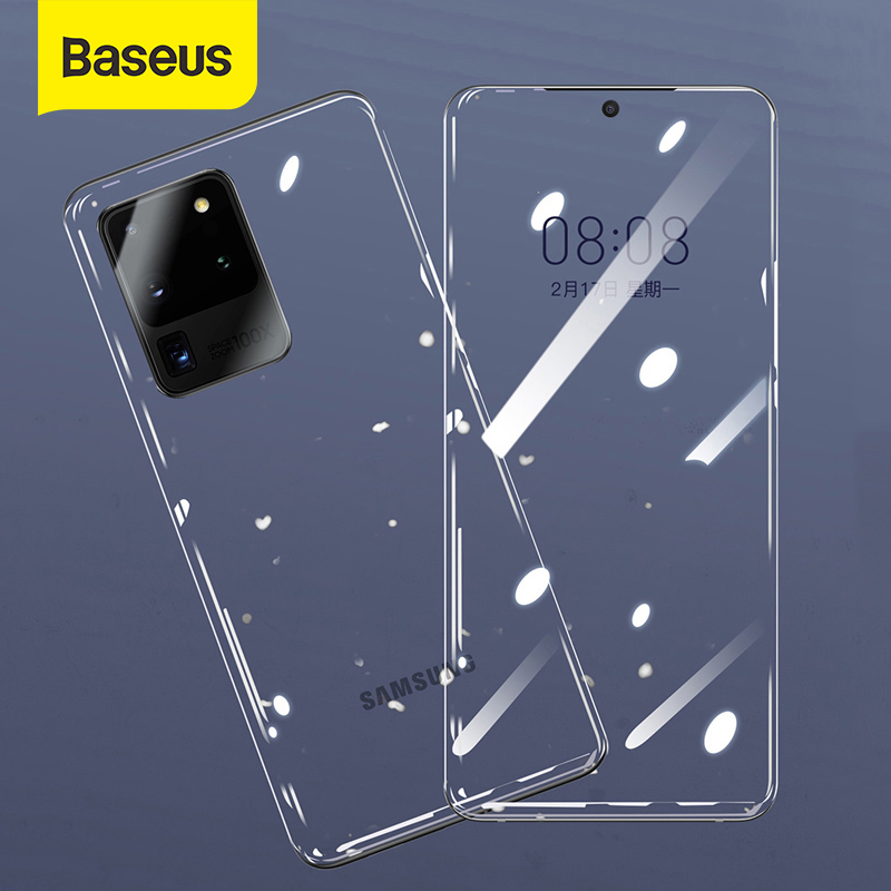 Baseus 2pcs 0.15mm Protective Glass For Samsung Galaxy S20 Ultra Plus Glass Full Screen Protector For Samsung S20 Tempered Glass