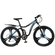 Bicicletas de montaña plegables de 21 velocidades y frenos de disco dobles para estudiantes y niños, bicicletas de carretera BMX de 26 pulgadas