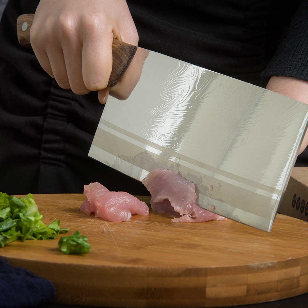 XYj Coltello Da Cucina Cinese Alto Tenore di Carbonio In Acciaio Inox Professionale Coltello Da Macellaio Maniglia di Legno Facile da Taglio Affettare Tagliere