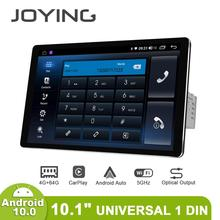 """1280*800 1Din 10.1 """"Universele Android10 Auto Stereo Radio Dsp Carplay Dsp Spdif Subwoofer 5Gwifi Optische Uitgang bluetooth 5.1 Dab"""