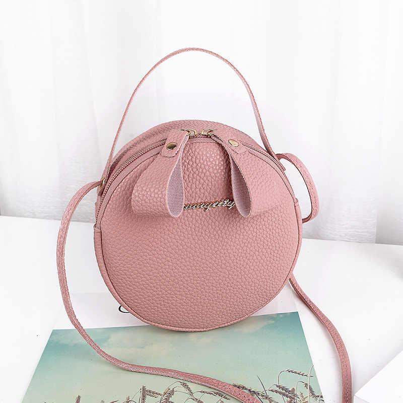 Mini Kleine Tasche frauen Handtasche PU Leder 2020 Mode Neue Schulter Messenger Taschen Kleine Frische Runde Tasche Geldbörsen und handtaschen