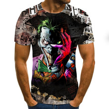 Camiseta del Joker para hombre, de moda Tops cortos, camisetas con estampado 3D, camiseta de cara de payaso, XXS-6XL de ropa 3D 2021