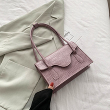 Leather flap Armpit Handbags For Women Shoulder Bags 2020 Female purple Vintage Totes bolso mujer handbag Lady Luxury Hand Bag bags for women 2018 elephant embroidery chains diamonds handbags lady pu leather flap woman handbag messenger bags casual totes