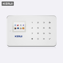 цена на KERUI G18 Wireless GSM Alarm System Home Security Surveillance IOS Android APP Remote Control SMS Call Push Host Alarm Systems