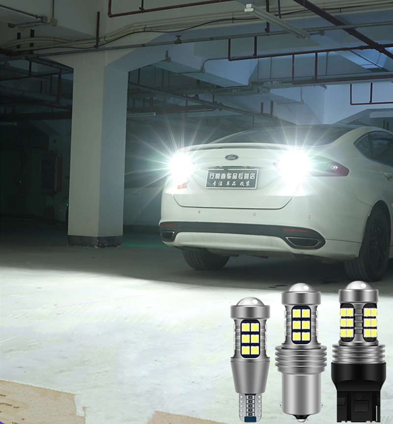 1pcs T15 <font><b>LED</b></font> <font><b>Bulb</b></font> W16W Canbus Car Backup <font><b>Lights</b></font> Reverse <font><b>Light</b></font> For <font><b>Mazda</b></font> 2 3 5 <font><b>6</b></font> 626 CX-5 MPV MX-5 Miata RX-8 Tribute Millenia image