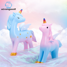 Strongwell Angel Unicorn Decoration Birthday Animal Gifts Home Party Nordic Style DIY Colorful Cartoon