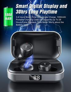 Image 4 - TAGRY Bluetooth kulaklık TWS kulakiçi Led ekran 30H oynatma binoral çağrı gerçek kablosuz kulaklık Metal şarj Mic ile durumda