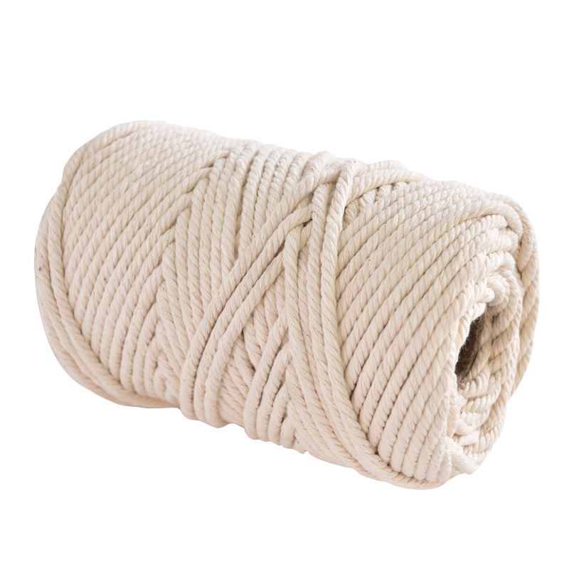 1 Yard 1~10mm Cotton Cord Natural Beige Twisted Cord Rope Craft Macrame String DIY Handmade Home Decorative