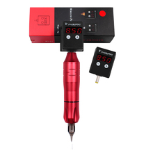 цена на Professional Tattoo Machine Kit With Mini Wireless Tattoo Power Supply Rotary Pen Fit Cartridges Needles For Permanent Makeup