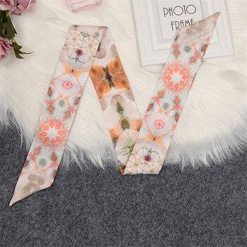 Luxury Brand Silk Scarf 2020 New Design Constellation Women Bag Hair Skinny Wrist Towel Foulard Femme Tie
