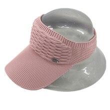 Спортивные шапки для мужчин и женщин Пустой Топ Кепка для бейсбола твердая цветная вязаная шапка для игр на открытом воздухе Защита от солнца