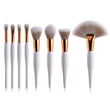 8Pcs Professional Makeup Brushes Set Powder Blush Foundation Eyeshadow Make Up Fan Brushes Cosmetic  Sets цена в Москве и Питере
