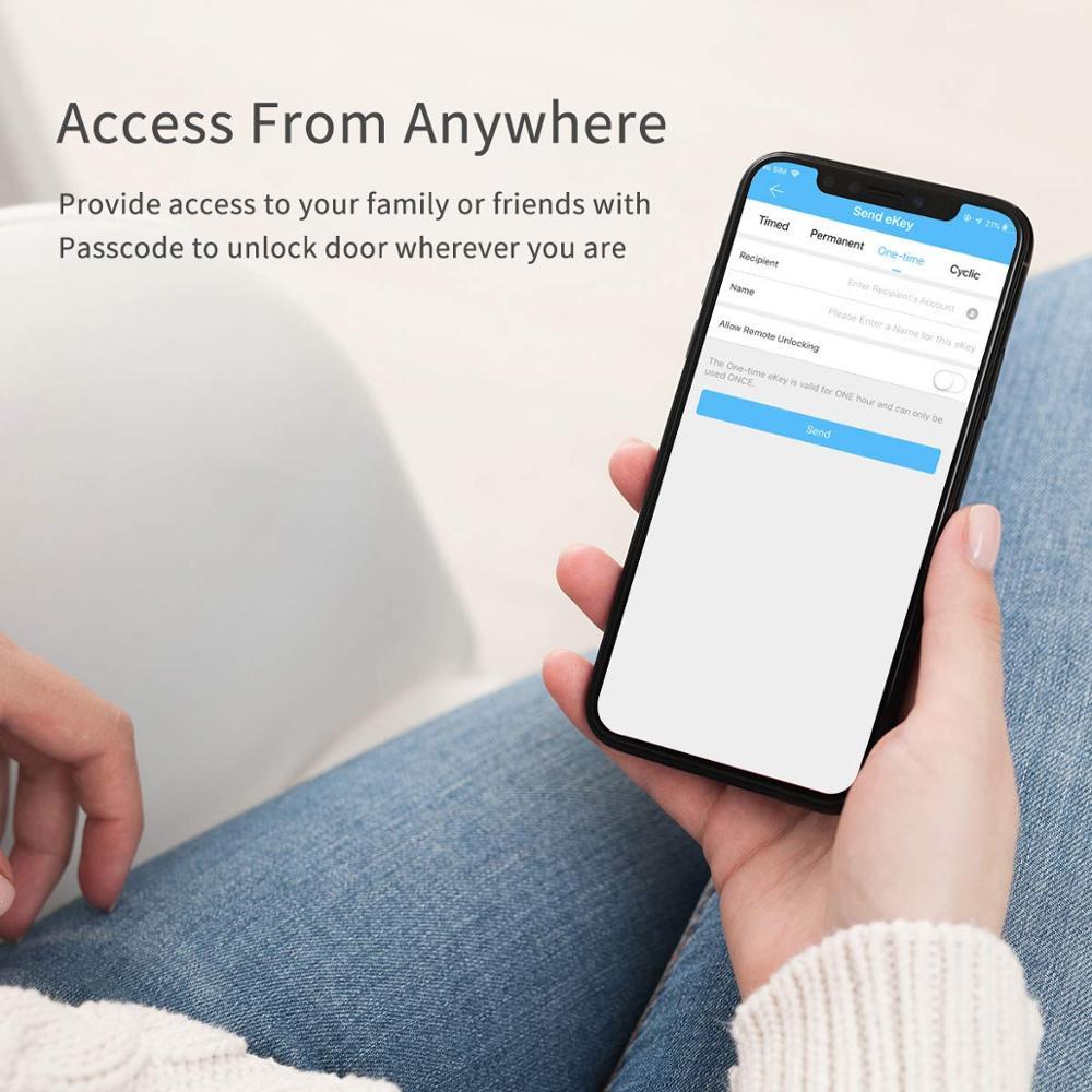 CATCHFACE Wireless Electronic Smart Fingerprint Padlock with Intelligent Security for Home Door 5