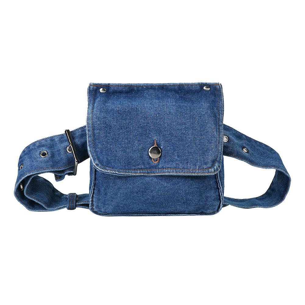 Casual Denim Shoulder Waist Bags For Women 2020 Vintage Fashion Belt Chest Messenger Bag Bolsas Feminina Mujer Crossbody Handbag