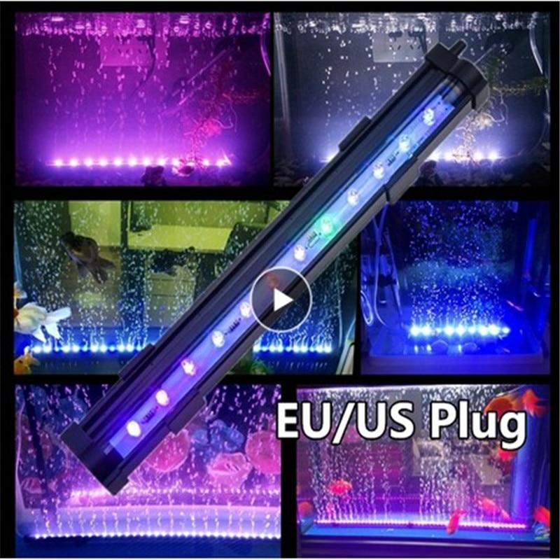 Aquarium Fish Tank LED Light Submersible Waterproof Bar Strip Lamp Lightings Bubble Colorful EU/US Plug Low Power No Harm Plant Lightings    - AliExpress