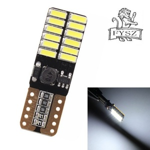 Image 2 - 100pcs T10 LED W5W 12V From 4014 Canbus Car Lamp 24 SMD 6500K Great Seller Light Emitting Diodes Independent Bulb Produto