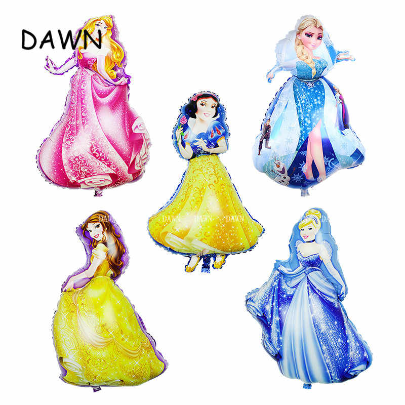 93*55cm Large Belle Cinderella Snow White Princess Foil Balloons Baby girl Birthday Party Decoration Helium Balloons kid gift