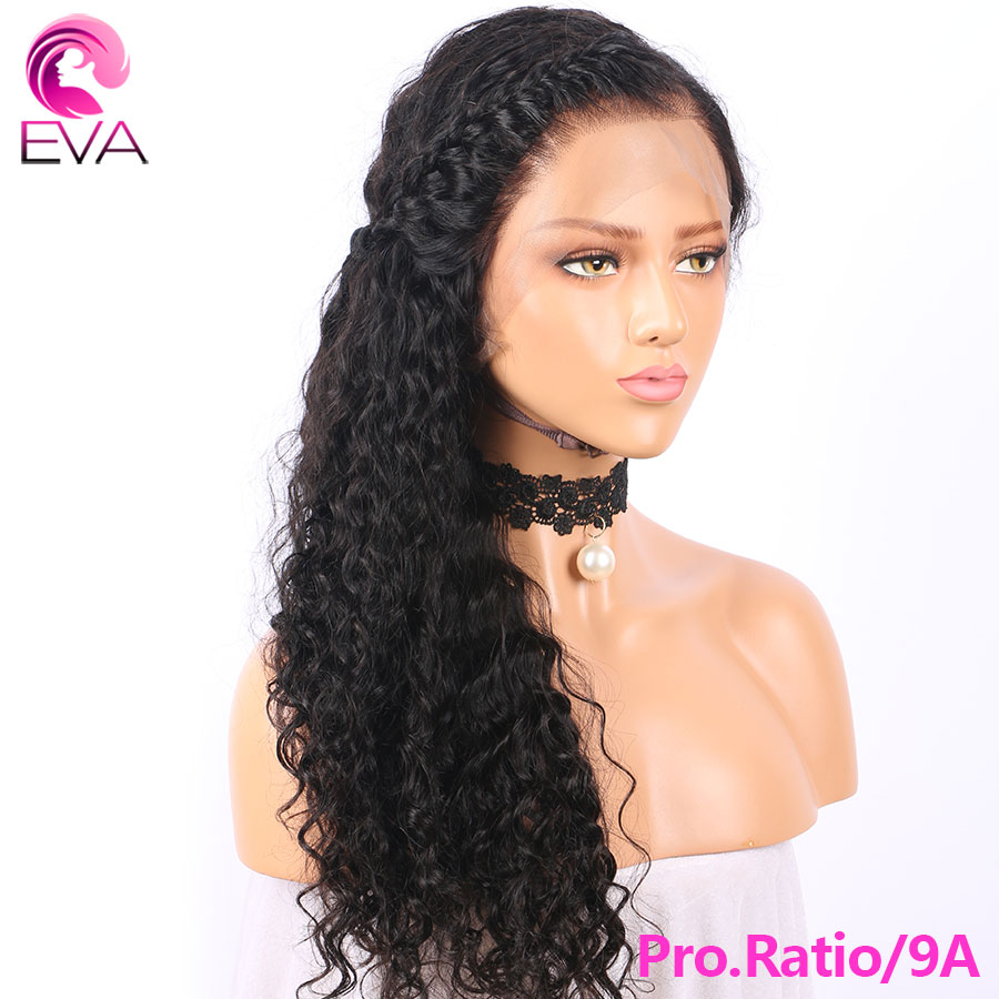 Eva Hair Full Lace Human Hair Wigs Pre Plucked With Baby Hair Remy Brazilian 150% Pro. Ratio Curly Hair Wigs For Black Women