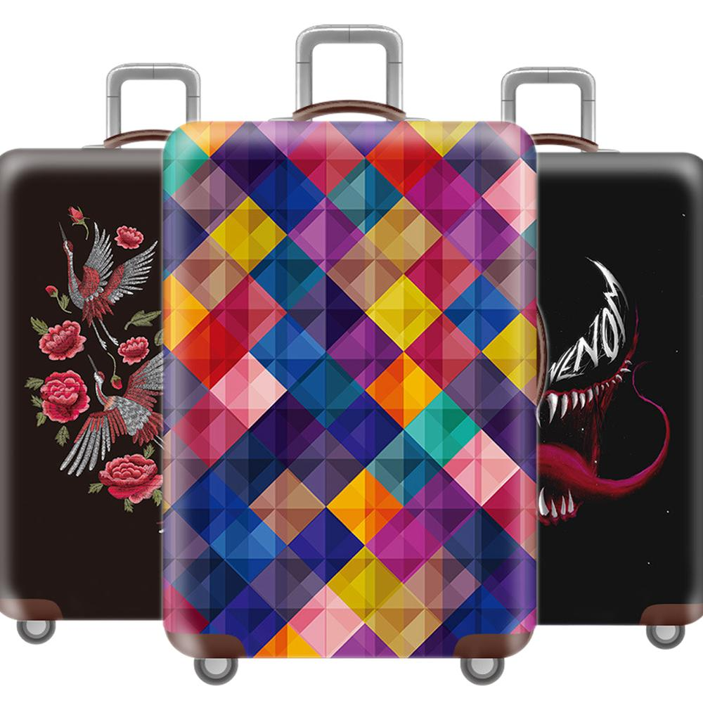 Fashion 3D Luggage Cover Protective Case Creative Waterproof Thicken Elastic Suitcase Cover For 18-32 Inch XL Travel Accessorie
