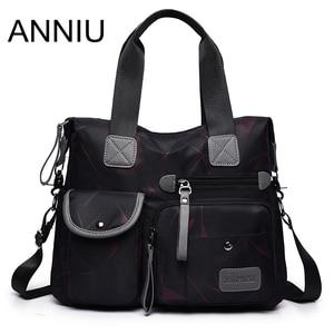 ANNIU New Fashion Women Multifunction Big Bags Large capacity water repellent handbag female Nylon shoulder bag famous brand