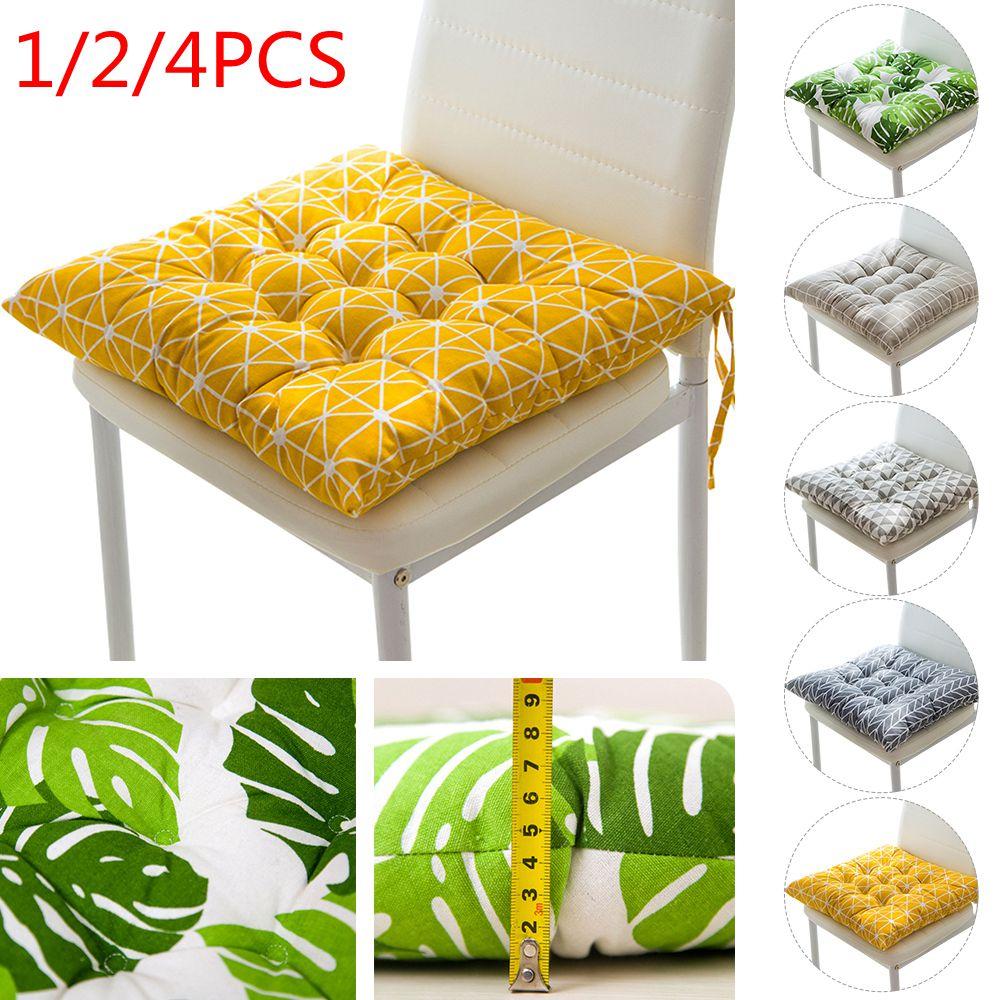 1/2/4PCS Square Print Seat Chiar Cushion Printed Office Bar Chair Back Seat Cushions Sofa Pillow Chair Cushion Home Office Decor